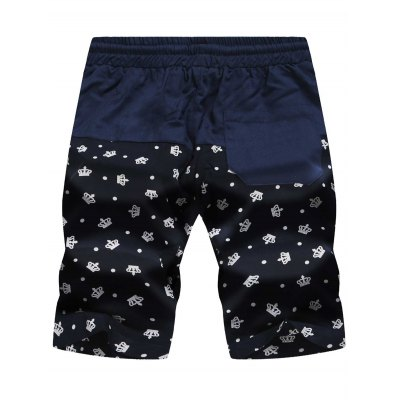 Drawstring Crown Print Panel Board ShortsMens Shorts<br>Drawstring Crown Print Panel Board Shorts<br><br>Closure Type: Drawstring<br>Fit Type: Regular<br>Front Style: Flat<br>Length: Short<br>Material: Cotton, Polyester<br>Package Contents: 1 x Board Shorts<br>Pattern Type: Print<br>Style: Fashion<br>Waist Type: Mid<br>Weight: 0.1900kg<br>With Belt: No
