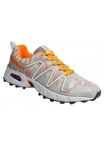 Fashion Color Splicing and Breathable Design Athletic Shoes For Men