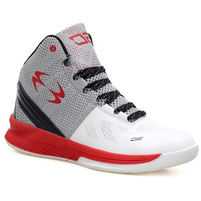 High Top Color Block Athletic Shoes