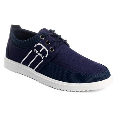 Splicing Stitching Lace-Up Casual Shoes