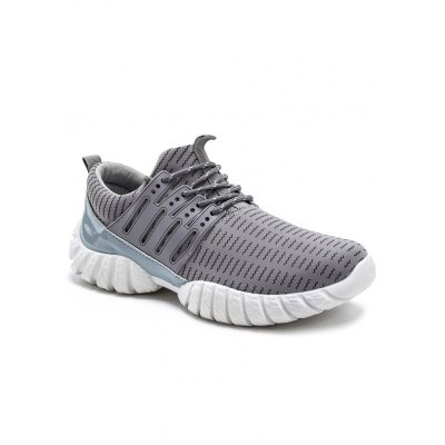 Wavy Lines Printed Tie Up Athletic Shoes