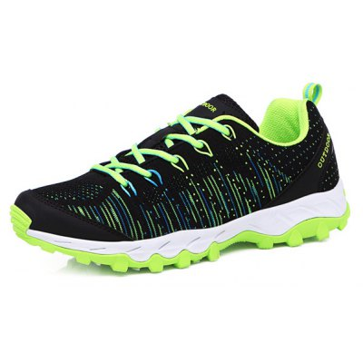 Multi Color Lace-Up Mesh Athletic Shoes