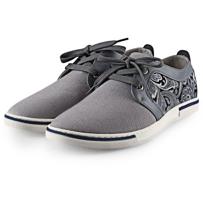 HLA Splice Paisley Printed Male Casual Shoes