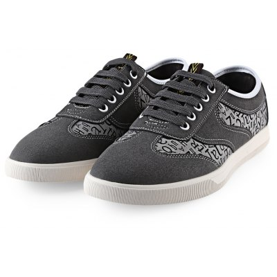 HLA Letter Print Nubuck Male Casual Shoes