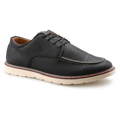 Preppy Lace-Up Stitching Casual Shoes