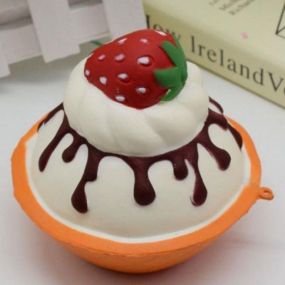 Simulation Toy Strawberry Ice Cream Slow Rising Squishy Food
