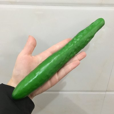Artificial Foam Vegetable Simulation CucumberSquishy toys<br>Artificial Foam Vegetable Simulation Cucumber<br><br>Features: Creative Toy<br>Materials: Foam<br>Package Contents: 1 x Simulation Cucumber<br>Products Type: Simulation Cucumber<br>Shape/Pattern: Vegetable<br>Size(CM): Length:22cm<br>Use: Home Decoration, Cabinet Decoration, Photography Props<br>Weight: 0.0620kg