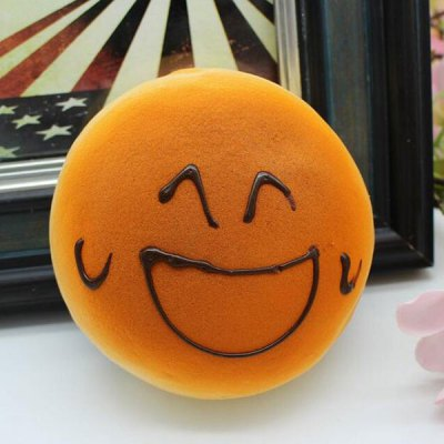 Smiling Face Bread Refrigerator Paste Squishy Toy Simulation Food