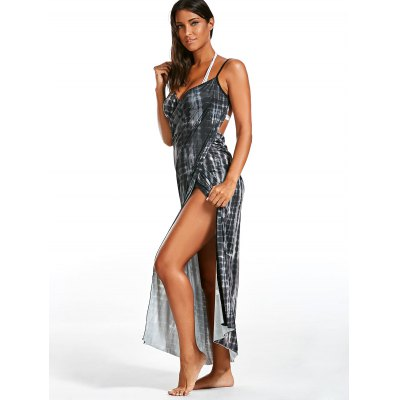 Wrap Cover Up Dress with Illusion PrintWomens Swimwear<br>Wrap Cover Up Dress with Illusion Print<br><br>Cover-Up Type: Dress<br>Gender: For Women<br>Material: Polyester<br>Package Contents: 1 x Dress<br>Pattern Type: Print<br>Shirt Length: Long<br>Weight: 0.4000kg