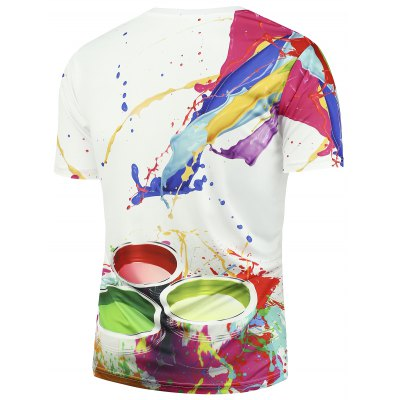 3D Paint Bucket Print Short Sleeves T-shirtMens Short Sleeve Tees<br>3D Paint Bucket Print Short Sleeves T-shirt<br><br>Collar: Crew Neck<br>Material: Polyester<br>Package Contents: 1 x T-shirt<br>Pattern Type: Paint<br>Sleeve Length: Short<br>Style: Fashion<br>Weight: 0.2000kg