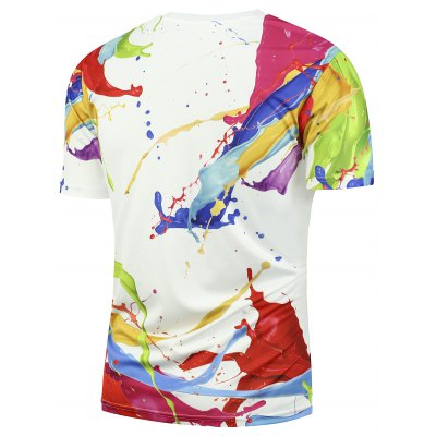 3D Splashed Paint Short Sleeves TeeMens Short Sleeve Tees<br>3D Splashed Paint Short Sleeves Tee<br><br>Collar: Crew Neck<br>Material: Polyester<br>Package Contents: 1 x T-shirt<br>Pattern Type: Paint<br>Sleeve Length: Short<br>Style: Fashion<br>Weight: 0.2000kg