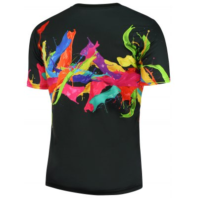 3D Colorful Splashing Paint Short Sleeves T-shirtMens Short Sleeve Tees<br>3D Colorful Splashing Paint Short Sleeves T-shirt<br><br>Collar: Crew Neck<br>Material: Polyester<br>Package Contents: 1 x T-shirt<br>Pattern Type: Print<br>Sleeve Length: Short<br>Style: Fashion<br>Weight: 0.2000kg