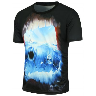 3D Shark Printed Short Sleeve T-shirtMens Short Sleeve Tees<br>3D Shark Printed Short Sleeve T-shirt<br><br>Collar: Crew Neck<br>Material: Polyester<br>Package Contents: 1 x T-shirt<br>Pattern Type: Animal<br>Sleeve Length: Short<br>Style: Fashion<br>Weight: 0.2000kg