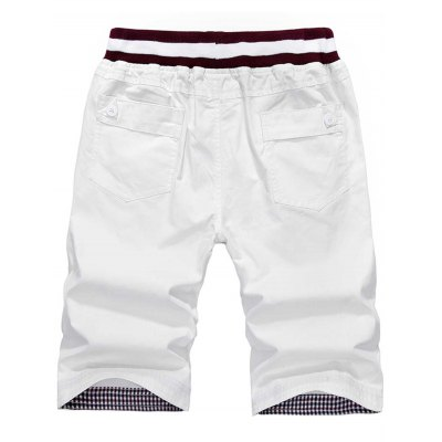 Drawstring Elastic Waist Pocket ShortsMens Shorts<br>Drawstring Elastic Waist Pocket Shorts<br><br>Closure Type: Drawstring<br>Fit Type: Regular<br>Front Style: Flat<br>Length: Knee-Length<br>Material: Cotton Blends<br>Package Contents: 1 x Shorts<br>Style: Casual<br>Waist Type: Mid<br>Weight: 0.3000kg<br>With Belt: No