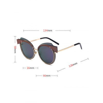 Metal Spliced Frame Cat Eye Design SunglassesStylish Sunglasses<br>Metal Spliced Frame Cat Eye Design Sunglasses<br><br>Frame Color: Gold<br>Frame Length: 13.4CM<br>Frame material: Other<br>Gender: For Women<br>Group: Adult<br>Lens height: 5.8CM<br>Lens material: Resin<br>Lens width: 6.6CM<br>Nose: 1.6CM<br>Package Contents: 1 x Sunglasses<br>Shape: Cat Eye<br>Style: Fashion<br>Temple Length: 12.6CM<br>Weight: 0.0364kg