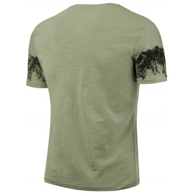 Slim Printed Short Sleeve T-shirtMens Short Sleeve Tees<br>Slim Printed Short Sleeve T-shirt<br><br>Collar: Crew Neck<br>Material: Cotton, Spandex<br>Package Contents: 1 x T-shirt<br>Pattern Type: Print<br>Sleeve Length: Short<br>Style: Fashion<br>Weight: 0.2200kg