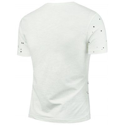 Splatter Paint Graphic Tee ShirtMens Short Sleeve Tees<br>Splatter Paint Graphic Tee Shirt<br><br>Collar: Crew Neck<br>Material: Cotton, Spandex<br>Package Contents: 1 x T-shirt<br>Pattern Type: Letter, Print<br>Sleeve Length: Short<br>Style: Fashion<br>Weight: 0.1400kg