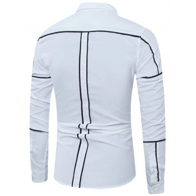 Long Sleeve Contrast Trim Insert ShirtMens Shirts<br>Long Sleeve Contrast Trim Insert Shirt<br><br>Collar: Turndown Collar<br>Material: Cotton, Polyester<br>Package Contents: 1 x Shirt<br>Pattern Type: Striped<br>Shirts Type: Casual Shirts<br>Sleeve Length: Full<br>Weight: 0.3000kg