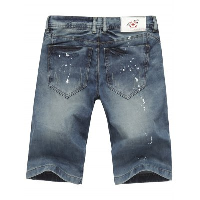Zip Fly Paint Splatter Jean ShortsMens Shorts<br>Zip Fly Paint Splatter Jean Shorts<br><br>Closure Type: Zipper Fly<br>Fit Type: Regular<br>Front Style: Flat<br>Length: Knee-Length<br>Material: Cotton, Jean<br>Package Contents: 1 x Shorts<br>Style: Casual<br>Waist Type: Mid<br>Weight: 0.4700kg<br>With Belt: No