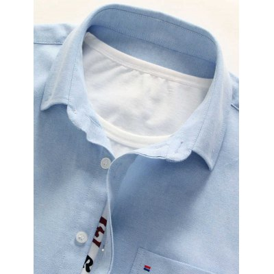 Long Sleeve Chest Pocket Button Down ShirtMens Shirts<br>Long Sleeve Chest Pocket Button Down Shirt<br><br>Collar: Turndown Collar<br>Material: Cotton, Polyester<br>Package Contents: 1 x Shirt<br>Pattern Type: Solid<br>Shirts Type: Casual Shirts<br>Sleeve Length: Full<br>Weight: 0.4000kg