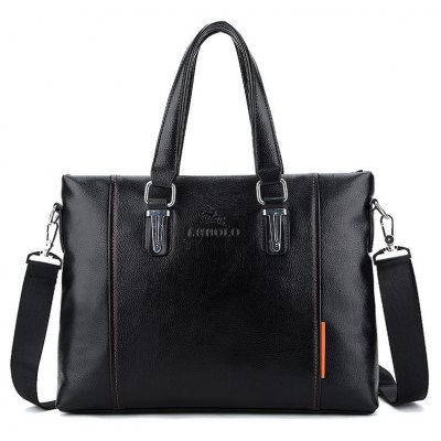 Metal Detail Faux Leather Tote Bag