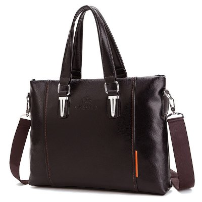 Metal Detail Faux Leather Tote Baghandbags<br>Metal Detail Faux Leather Tote Bag<br><br>Closure Type: Zipper<br>Gender: For Men<br>Height: 29CM<br>Length: 38CM<br>Main Material: PU<br>Package Contents: 1 x Handbag<br>Pattern Type: Solid<br>Style: Fashion<br>Weight: 1.2000kg<br>Width: 7CM