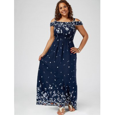 Plus Size Floral Print Cold Shoulder Maxi DressMaxi Dresses<br>Plus Size Floral Print Cold Shoulder Maxi Dress<br><br>Dresses Length: Floor-Length<br>Material: Rayon<br>Neckline: Square Collar<br>Package Contents: 1 x Dress<br>Pattern Type: Floral<br>Season: Spring, Summer, Fall<br>Silhouette: A-Line<br>Sleeve Length: Short Sleeves<br>Sleeve Type: Cold Shoulder<br>Style: Casual<br>Waist: Empire<br>Weight: 0.2700kg<br>With Belt: No