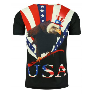 Crew Neck 3D Eagle Graphic Print Patriotic T-shirtMens Short Sleeve Tees<br>Crew Neck 3D Eagle Graphic Print Patriotic T-shirt<br><br>Collar: Crew Neck<br>Material: Cotton, Polyester<br>Package Contents: 1 x T-shirt<br>Pattern Type: Letter, Flag, Eagle, 3D<br>Sleeve Length: Short<br>Style: Fashion, Casual<br>Weight: 0.2100kg