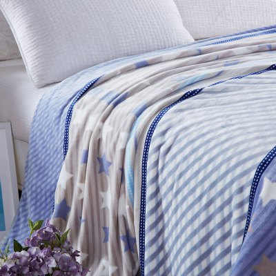 Spring Summer Star Print Soft BlanketBedding Sets<br>Spring Summer Star Print Soft Blanket<br><br>Material: Cotton, Polyester<br>Package Contents: 1 x Throw Blanket<br>Pattern Type: Stripe<br>Type: Super Soft<br>Weight: 1.4000kg
