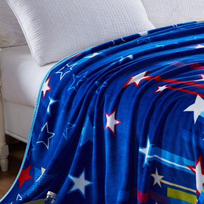 Stripe and Star Pattern Spring Summer BlanketBedding Sets<br>Stripe and Star Pattern Spring Summer Blanket<br><br>Material: Cotton, Polyester<br>Package Contents: 1 x Throw Blanket<br>Pattern Type: Stripe<br>Type: Super Soft<br>Weight: 1.4000kg