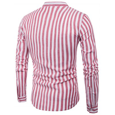 Stand Collar Vintage Vertical Stripe ShirtMens Shirts<br>Stand Collar Vintage Vertical Stripe Shirt<br><br>Collar: Stand Collar<br>Material: Cotton, Polyester<br>Package Contents: 1 x Shirt<br>Pattern Type: Striped<br>Shirts Type: Casual Shirts<br>Sleeve Length: Full<br>Weight: 0.2200kg