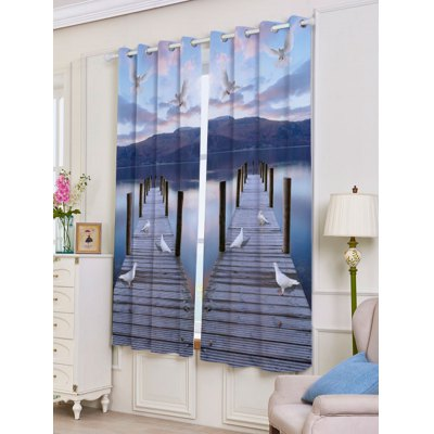 Lake Scenic Grommet 2 Panel Window Blackout CurtainWindow Treatments<br>Lake Scenic Grommet 2 Panel Window Blackout Curtain<br><br>Applicable Window Type: Flat Window<br>Function: Blackout<br>Installation Type: Ceiling Installation<br>Location: Window<br>Material: Polyester / Cotton<br>Opening and Closing Method: Left and Right Biparting Open<br>Package Contents: 2 x Curtains?Panel?<br>Pattern Type: Scenic<br>Processing: Punching<br>Processing Accessories Cost: Excluded<br>Style: Traditional Chinese<br>Type: Curtain<br>Use: Cafe, Hospital, Hotel, Office, Home<br>Weight: 1.2000kg