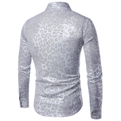 Turndown Collar Leopard Pattern Gilding ShirtMens Shirts<br>Turndown Collar Leopard Pattern Gilding Shirt<br><br>Collar: Turndown Collar<br>Material: Cotton, Polyester<br>Package Contents: 1 x Shirt<br>Pattern Type: Leopard<br>Shirts Type: Casual Shirts<br>Sleeve Length: Full<br>Weight: 0.2400kg