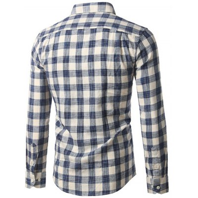 Button-Down Plaid Long Sleeve ShirtMens Shirts<br>Button-Down Plaid Long Sleeve Shirt<br><br>Collar: Turn-down Collar<br>Material: Cotton Blends<br>Package Contents: 1 x Shirt<br>Pattern Type: Plaid<br>Shirts Type: Casual Shirts<br>Sleeve Length: Full<br>Weight: 0.3200kg