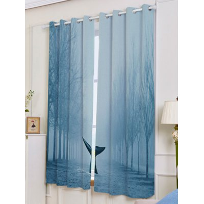 2 Pieces Mist Whale Blackout Screen Window CurtainWindow Treatments<br>2 Pieces Mist Whale Blackout Screen Window Curtain<br><br>Applicable Window Type: Flat Window<br>Function: Blackout<br>Installation Type: Ceiling Installation<br>Location: Window<br>Material: Polyester / Cotton<br>Opening and Closing Method: Left and Right Biparting Open<br>Package Contents: 2 x Curtains?Panel?<br>Pattern Type: Scenic<br>Processing: Punching<br>Processing Accessories Cost: Excluded<br>Style: Modern<br>Type: Curtain<br>Use: Cafe, Hospital, Hotel, Office, Home<br>Weight: 1.2000kg