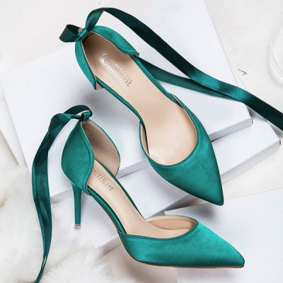Two Piece Tie Up Satin PumpsWomens Pumps<br>Two Piece Tie Up Satin Pumps<br><br>Heel Height: 8.5CM, 8.5CM<br>Heel Height Range: High(3-3.99)<br>Heel Type: Stiletto Heel<br>Occasion: Party<br>Package Contents: 1 x Pumps (pair), 1 x Pumps (pair)<br>Pumps Type: D'Orsay &amp; Two-Piece<br>Season: Spring/Fall, Summer<br>Shoe Width: Medium(B/M)<br>Toe Shape: Pointed Toe<br>Toe Style: Closed Toe<br>Upper Material: Satin<br>Weight: 1.5000kg