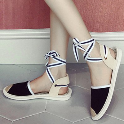 Slingback Tie Up Canvas SandalsWomens Sandals<br>Slingback Tie Up Canvas Sandals<br><br>Closure Type: Lace-Up<br>Gender: For Women<br>Heel Height: 2CM<br>Heel Height Range: Flat(0-0.5)<br>Heel Type: Flat Heel<br>Occasion: Casual<br>Package Contents: 1 x Sandals (pair)<br>Pattern Type: Others<br>Platform Height: 1CM<br>Sandals Style: Gladiator<br>Shoe Width: Medium(B/M)<br>Style: Leisure<br>Upper Material: Canvas<br>Weight: 1.0800kg