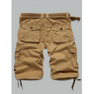 Multi Pockets Cargo ShortsMens Shorts<br>Multi Pockets Cargo Shorts<br><br>Closure Type: Zipper Fly<br>Fit Type: Regular<br>Front Style: Flat<br>Length: Knee-Length<br>Material: Cotton, Polyester<br>Package Contents: 1 x Shorts<br>Style: Casual<br>Waist Type: Mid<br>Weight: 0.4300kg<br>With Belt: No