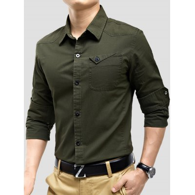 Turndown Collar Panel Design Pocket Cargo ShirtMens Shirts<br>Turndown Collar Panel Design Pocket Cargo Shirt<br><br>Collar: Turndown Collar<br>Material: Cotton<br>Package Contents: 1 x Shirt<br>Pattern Type: Solid<br>Shirts Type: Casual Shirts<br>Sleeve Length: Full<br>Weight: 0.4300kg