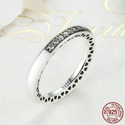 Rhinestone Sterling Silver Heart RingRings<br>Rhinestone Sterling Silver Heart Ring<br><br>Gender: For Women<br>Metal Type: Silver<br>Package Contents: 1 x Ring<br>Shape/Pattern: Round<br>Style: Trendy<br>Weight: 0.0300kg
