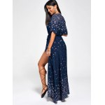 best Paisley Print High Slit Maxi Beach Wrap Dress