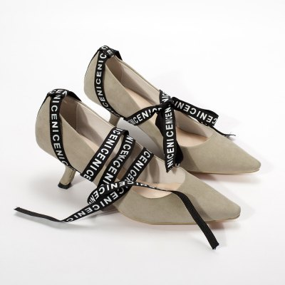 Tie Up Point Toe Suede PumpsWomens Pumps<br>Tie Up Point Toe Suede Pumps<br><br>Embellishment: Letter<br>Heel Height: 5.5CM<br>Heel Height Range: Med(1.75-2.75)<br>Heel Type: Stiletto Heel<br>Occasion: Casual<br>Package Contents: 1 x Pumps (pair)<br>Pumps Type: Basic<br>Season: Spring/Fall, Summer<br>Shoe Width: Medium(B/M)<br>Toe Shape: Pointed Toe<br>Toe Style: Closed Toe<br>Upper Material: Suede<br>Weight: 1.3800kg