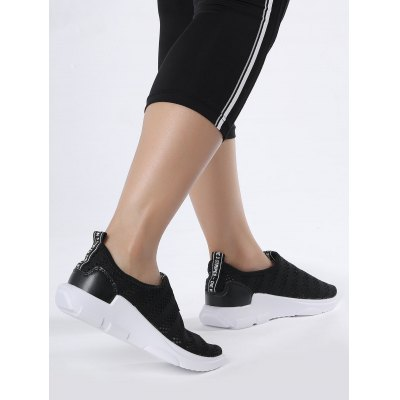 Mesh Letter Pattern Athletic ShoesWomens Sneakers<br>Mesh Letter Pattern Athletic Shoes<br><br>Closure Type: Slip-On<br>Feature: Breathable<br>Gender: For Women<br>Package Contents: 1 x Athletic Shoes (pair)<br>Pattern Type: Letter<br>Season: Summer<br>Shoe Width: Medium(B/M)<br>Upper Material: Mesh<br>Weight: 1.2000kg