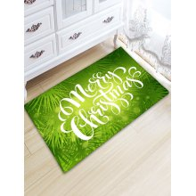 Flannel Thickening Christmas Letter Print Rug