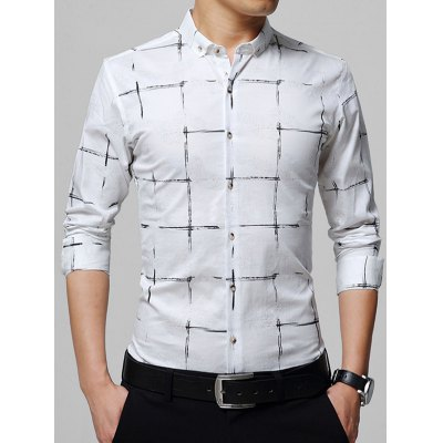 Casual Button Down Checked Shirt