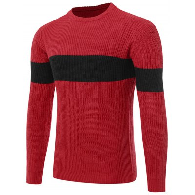 Ribbed Knit Two Tone Sweater