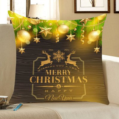 Christmas Elks Decorations Pattern Throw Pillow Case