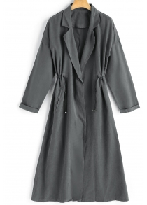 Lapel One Button Trench Coat