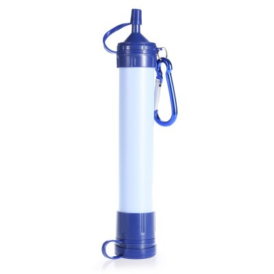 Outdoor Water Straw Filter Purification Pump with Hanging Buckle for Camping Survival