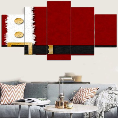Christmas Belt Printed Wall Art Decorative Canvas Paintings